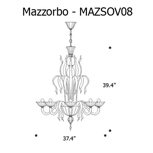 Buy online latest and high quality Mazzorbo Chandelier from Mazzega 1946 | Modern Lighting + Decor