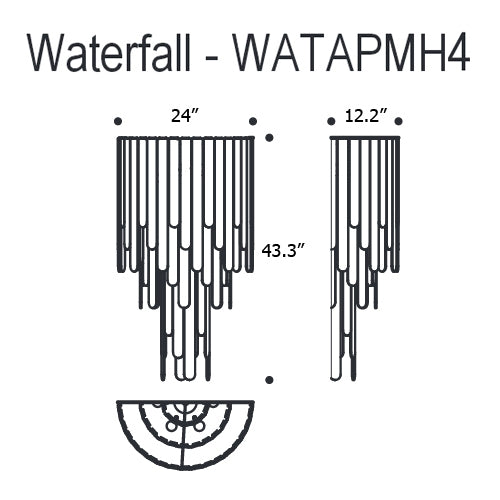 Buy online latest and high quality Water Fall Wall Light from Mazzega 1946 | Modern Lighting + Decor