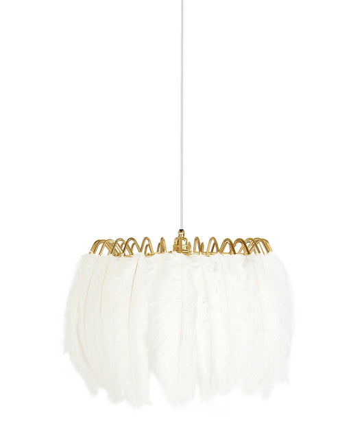 Feather Pendant Lamp White from Mineheart | Modern Lighting + Decor