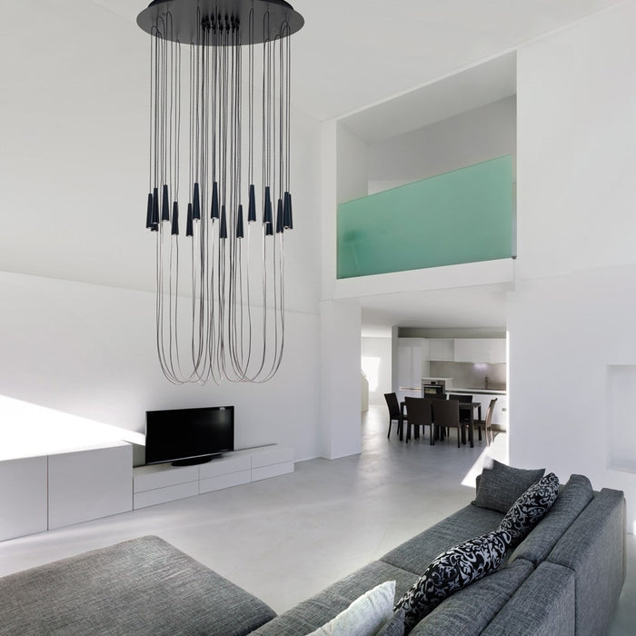 Buy online latest and high quality Santral LA24 Chandelier from Morosini | Modern Lighting + Decor