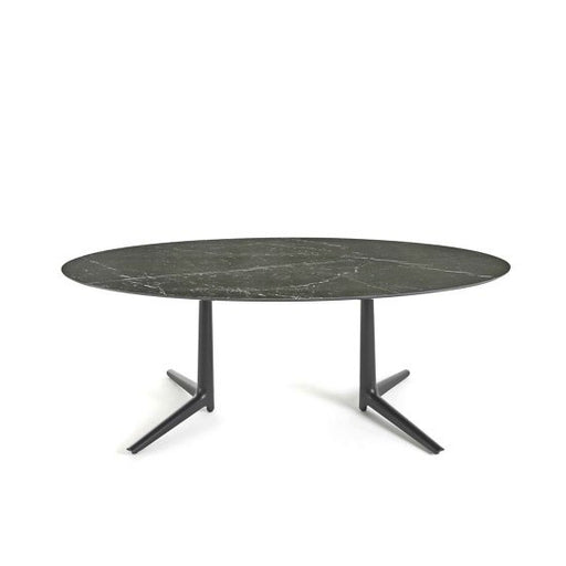 Multiplo Low Outdoor Table with 2 Spokes from Kartell | Modern Lighting + Decor