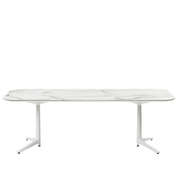 Buy online latest and high quality Multiplo Low Outdoor Table with 2 Spokes from Kartell | Modern Lighting + Decor