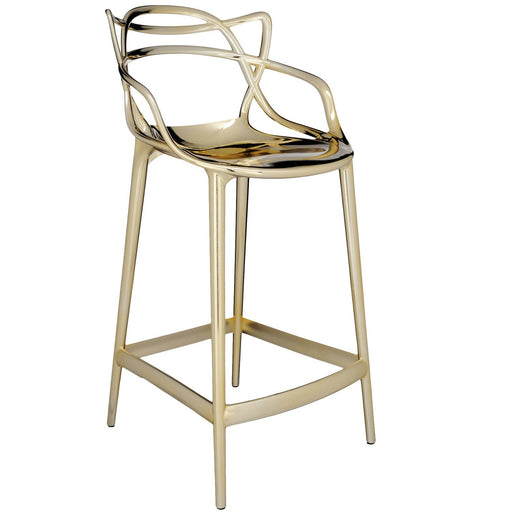 Masters Metallic Stool from Kartell | Modern Lighting + Decor