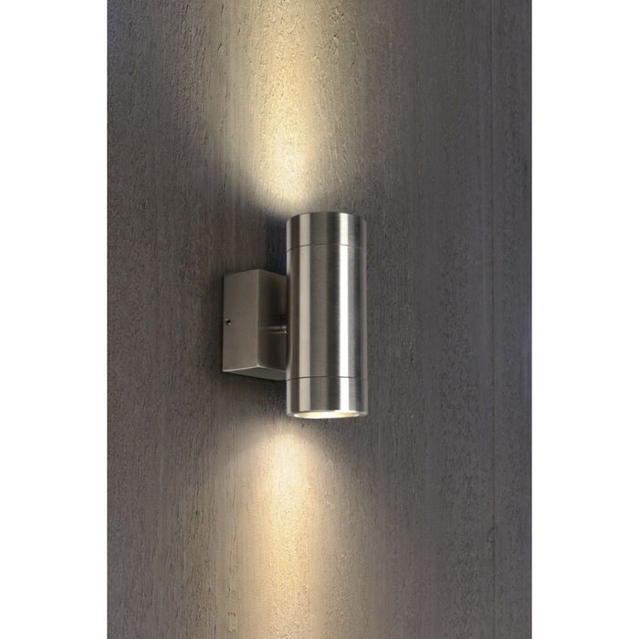 Buy online latest and high quality ASTINA STEEL stainless steel, 2-light sources Outdoor Wall Light from SLV Lighting | Modern Lighting + Decor