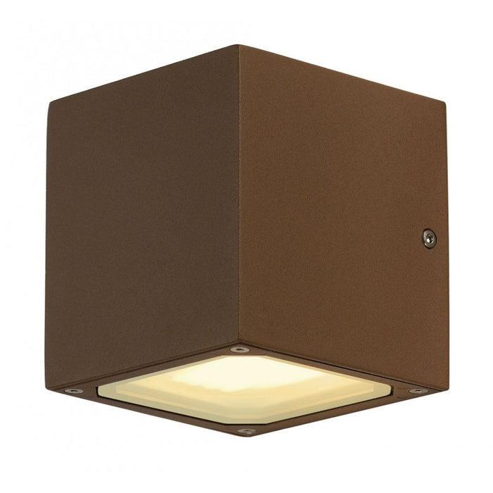 SITRA CUBE rust-coloured, 2-light sources Outdoor Wall Light  | Modern Lighting + Decor