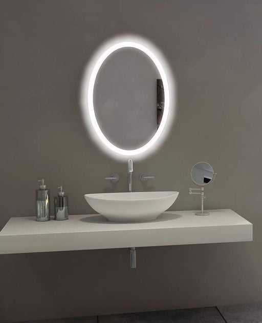 Backlit Mirror Oval 20 X 28 In from Paris Mirror | Modern Lighting + Decor