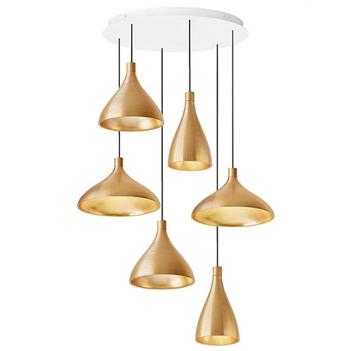 Swell 6 Chandelier from Pablo Designs | Modern Lighting + Decor