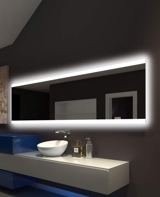 Backlit Mirror Paris 96 X 28 In from Paris Mirror | Modern Lighting + Decor