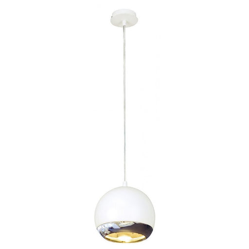 EYE chrome, white, 1-light source Pendant Light  | Modern Lighting + Decor