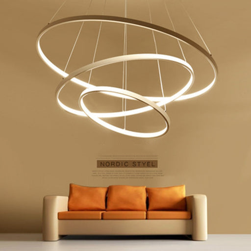 Triple Circle Pendant Light from Interior Deluxe | Modern Lighting + Decor