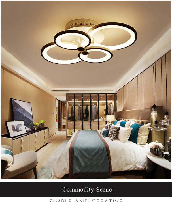 Multi Circle 4 LED Ceiling Light from Interior Deluxe | Modern Lighting + Decor