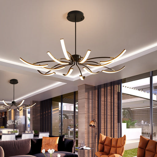 Naura LED Chandelier from Interior Deluxe | Modern Lighting + Decor