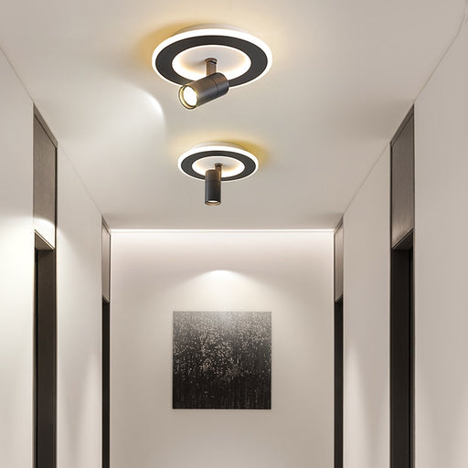 Buy online latest and high quality NEO Gleam Modern led Chandelier for Bedroom Foyer Carridor home deco white or black color ceiling chandelier square or round from Interior-Deluxe.com | Modern Lighting + Decor