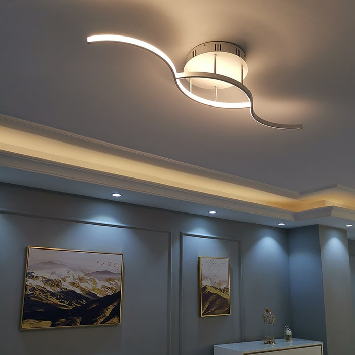 Curve LED Ceiling Light from Interior Deluxe | Modern Lighting + Decor