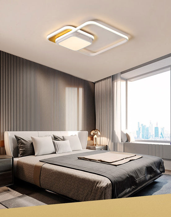 Three Square LED Ceiling Light from Interior Deluxe | Modern Lighting + Decor