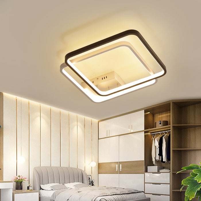 Double Flat LED Ceiling Light from Interior Deluxe | Modern Lighting + Decor