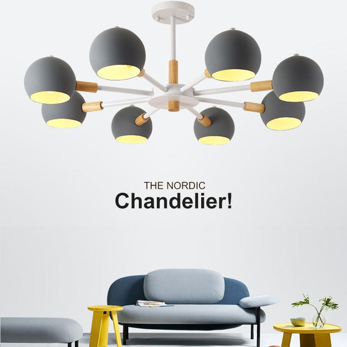 Orb 8 Chandelier from Interior Deluxe | Modern Lighting + Decor