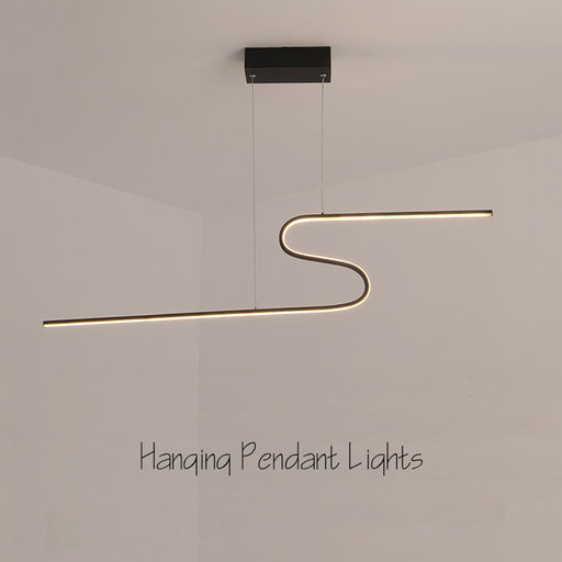 S Shape LED Pendant Light from Interior Deluxe | Modern Lighting + Decor