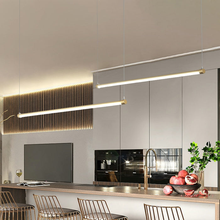 Lexzo LED Linear Pendant Light from Interior Deluxe | Modern Lighting + Decor