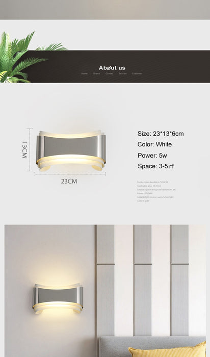 Yona LED Wall Light from Interior Deluxe | Modern Lighting + Decor