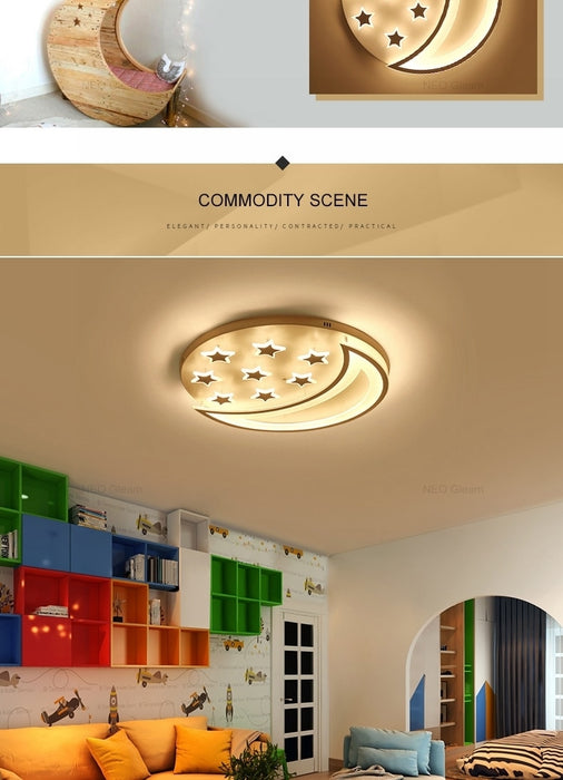 Star Moon LED Ceiling Light from Interior Deluxe | Modern Lighting + Decor