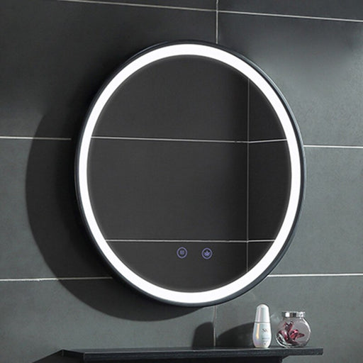 Silverripple Lighted Mirror from Interior Deluxe | Modern Lighting + Decor