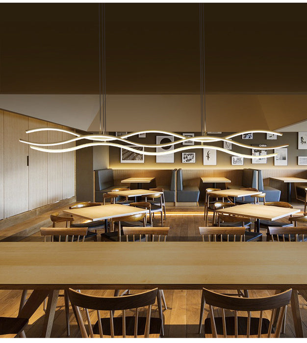 Agius Linear LED Pendant Light from Interior Deluxe | Modern Lighting + Decor