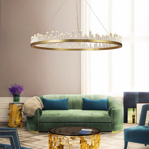 Crown LED Chandelier from Interior Deluxe | Modern Lighting + Decor