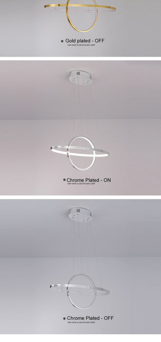 Circle Ring LED Chandelier from Interior Deluxe | Modern Lighting + Decor