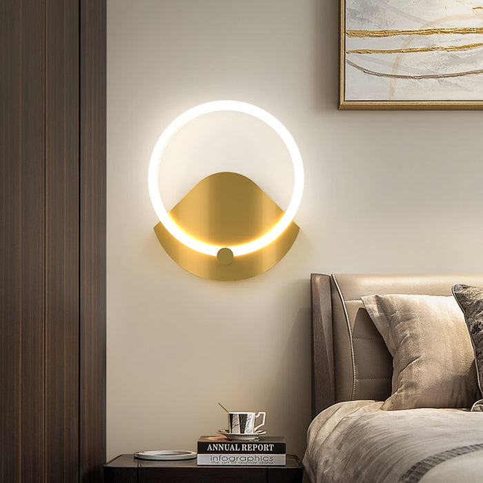 Ringgo Round LED Wall Lamp from Interior Deluxe | Modern Lighting + Decor