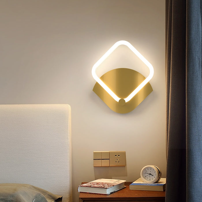 Ringgo Square  LED Wall Lamp from Interior Deluxe | Modern Lighting + Decor