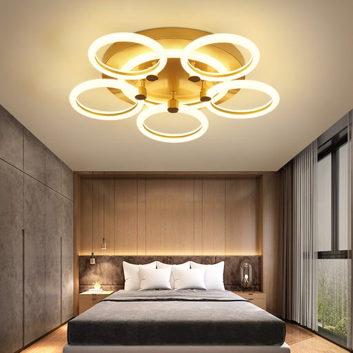 Dice Round LED Ceiling Light from Interior Deluxe | Modern Lighting + Decor
