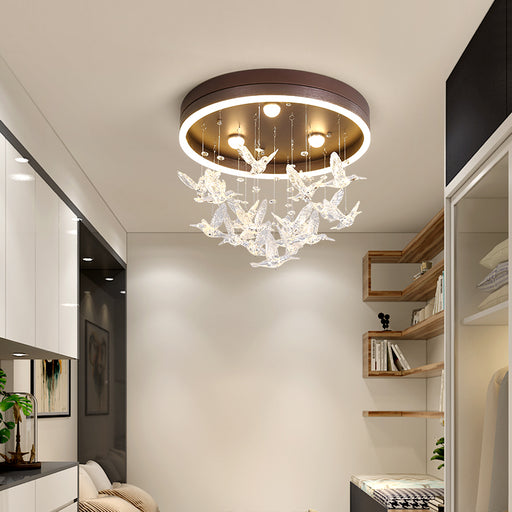 Modern Bird LED Chandelier from Interior Deluxe | Modern Lighting + Decor