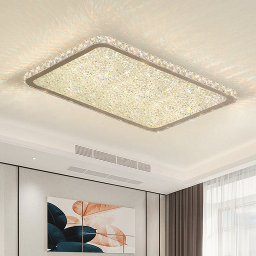 Morgan Crystal LED ceiling light from Interior Deluxe | Modern Lighting + Decor