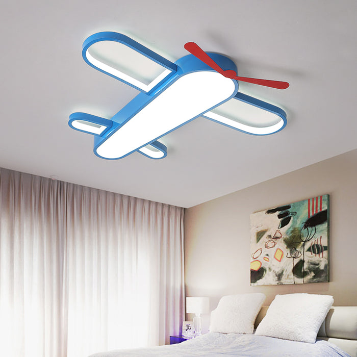 Modern Airplane Blue LED Ceiling Light from Interior Deluxe | Modern Lighting + Decor