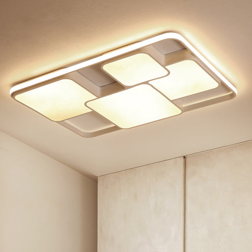 Luda Rectangle LED Ceiling Light from Interior Deluxe | Modern Lighting + Decor