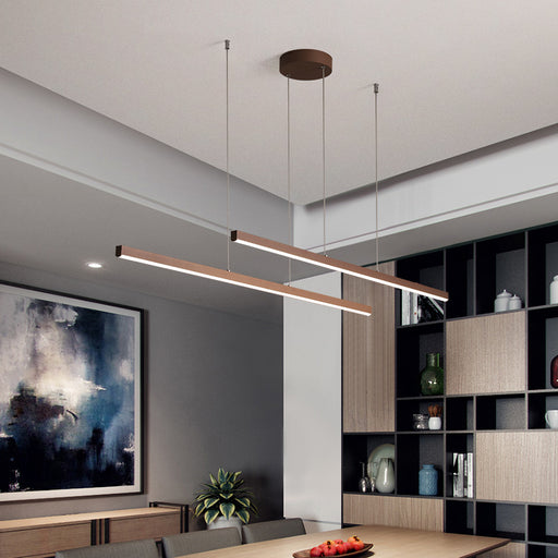 Buy online latest and high quality Veska LED Linear Pendant Light from Interior Deluxe | Modern Lighting + Decor