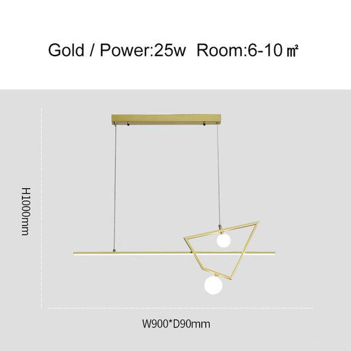 Zhon LED Linear pendant light