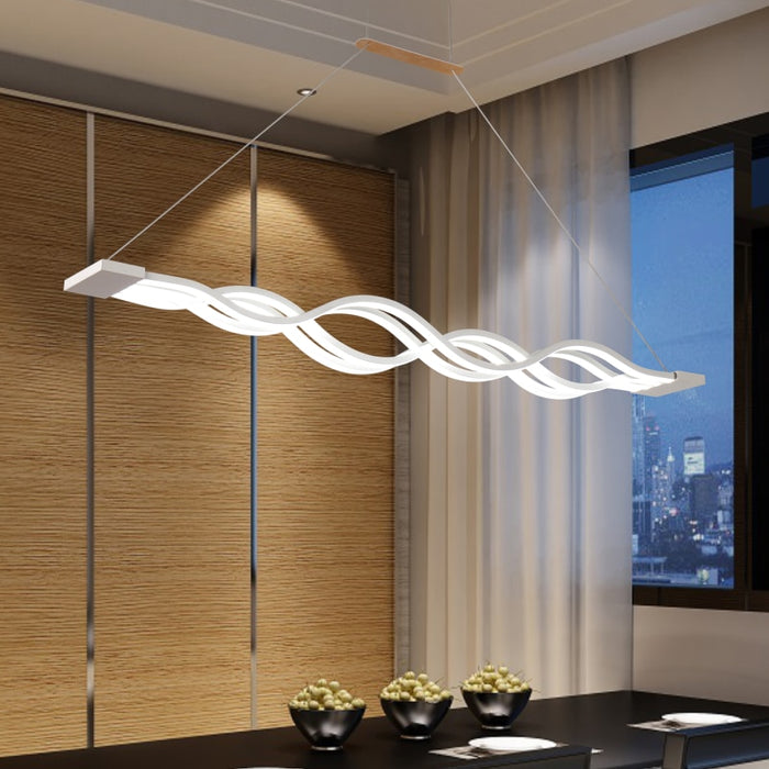 Surge Linear LED Pendant Light from Interior Deluxe | Modern Lighting + Decor