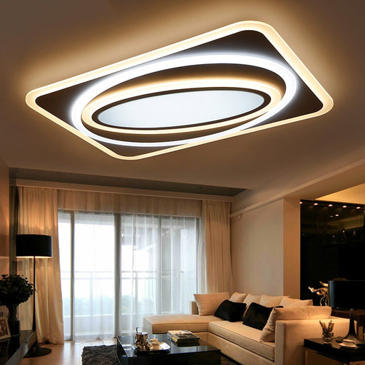 Mirage Rectangle LED Ceiling Light from Interior Deluxe | Modern Lighting + Decor