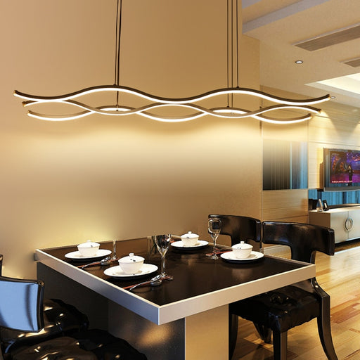 Long Wave LED Pendant Light from Interior Deluxe | Modern Lighting + Decor
