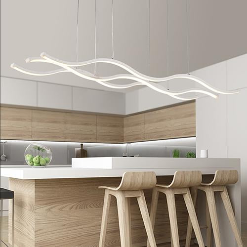 Long Wave LED Pendant Light