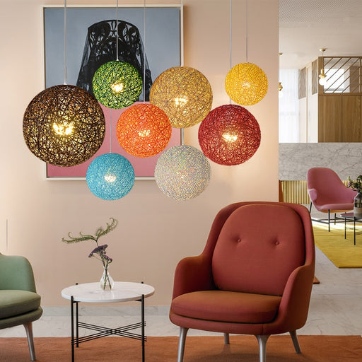 Globe Wicker Pendant Light from Interior Deluxe | Modern Lighting + Decor