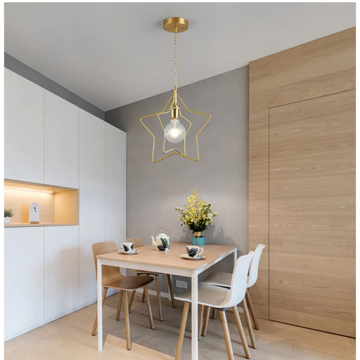 Thin Star Pendant Light from Interior Deluxe | Modern Lighting + Decor