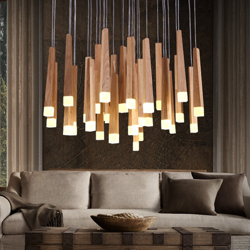 Wood LED Pendant Light from Interior Deluxe | Modern Lighting + Decor