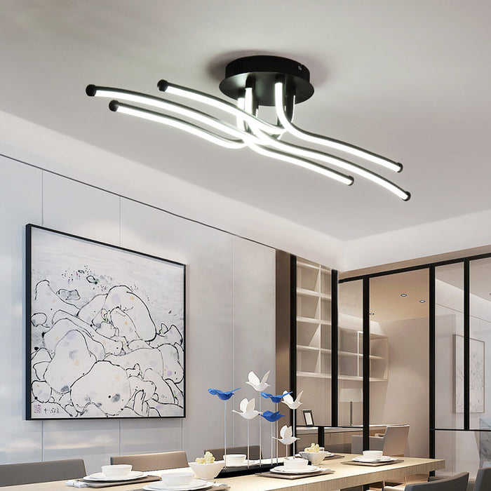 Tikka Brown LED Ceiling Light