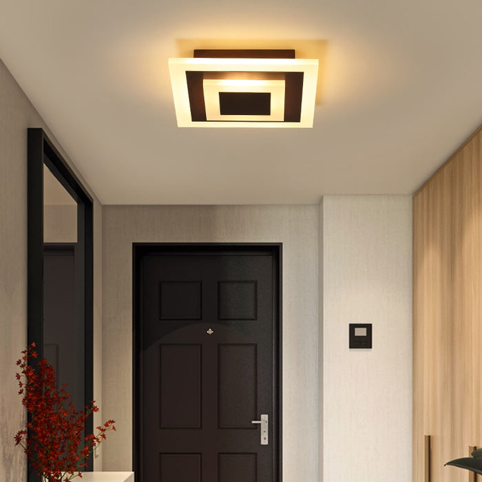 Clara Square LED Ceiling Light from Interior Deluxe | Modern Lighting + Decor