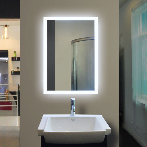 Backlit Bathroom Mirror Rectangle 40 X 24 In from Paris Mirror | Modern Lighting + Decor