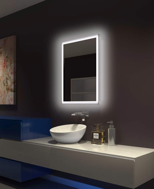 Backlit Bathroom Mirror Rectangle 24 X 32 In from Paris Mirror | Modern Lighting + Decor