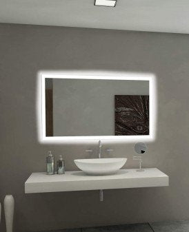 Backlit Mirror Rectangle 48 X 28 In from Paris Mirror | Modern Lighting + Decor